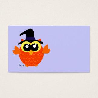 Búho de Halloween Tarjeta De Negocios