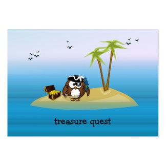búho de la búsqueda del tesoro tarjetas de visita grandes