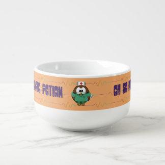 búho de la enfermera - cuenco para sopa