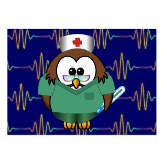 búho de la enfermera plantilla de tarjeta personal
