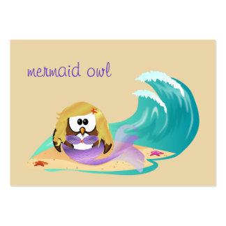 búho de la sirena tarjetas de visita grandes