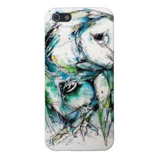 Búho de la turquesa iPhone 5 coberturas