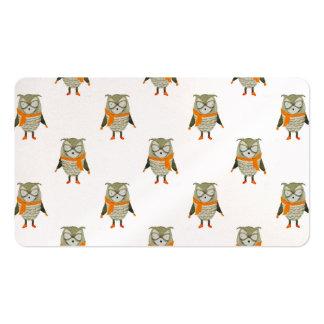 Búho de los amigos del bosque por todo modelo de tarjetas de visita