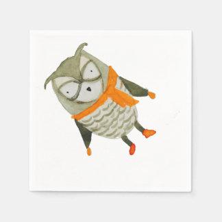 Búho de los amigos del bosque servilleta de papel