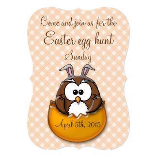 Búho de Pascua - naranja Invitación 12,7 X 17,8 Cm