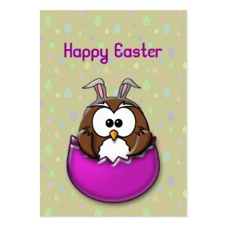 Búho de Pascua Tarjetas De Visita Grandes