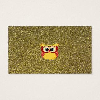 Búho del brillo tarjeta de negocios