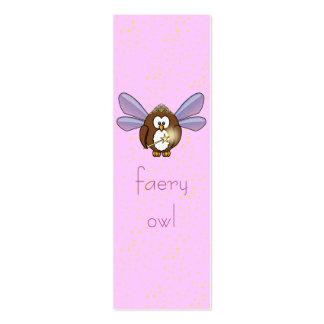 búho del faery tarjetas de negocios