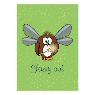 búho del faery tarjetas de visita