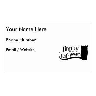 Búho del feliz Halloween Plantilla De Tarjeta Personal