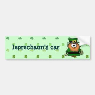 búho del leprechaun pegatina para coche