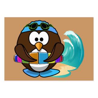 búho del nadador tarjeta de visita