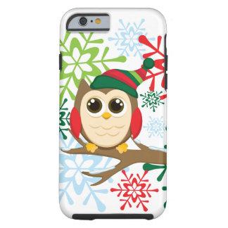 Búho del navidad funda de iPhone 6 tough