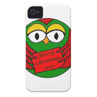 Búho del navidad iPhone 4 carcasas