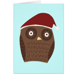 Búho del navidad tarjeta de felicitación