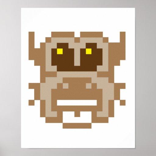 Búho del pixel posters
