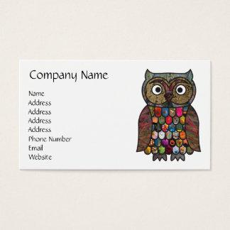 Búho del remiendo tarjeta de negocios