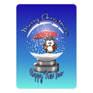 búho del snowglobe plantillas de tarjetas de visita