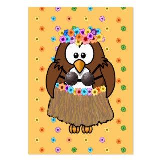 búho del wahine tarjetas de visita grandes