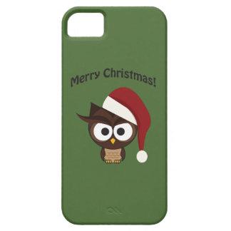 Búho enojado de las Felices Navidad iPhone 5 Case-Mate Cárcasas