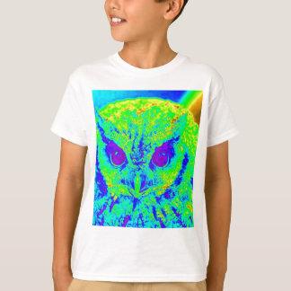 búho fluorescente camiseta