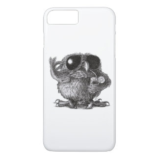 Búho fresco animal divertido funda para iPhone 8 plus/7 plus