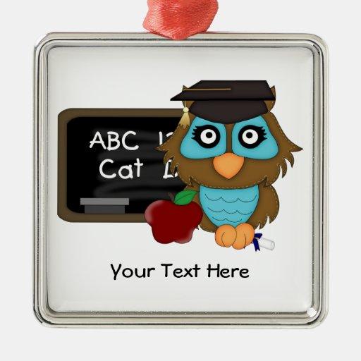 Búho Graduation1 (personalizable) Adorno Para Reyes