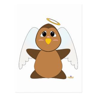 Búho Huggable de Brown del ángel Tarjetas Postales