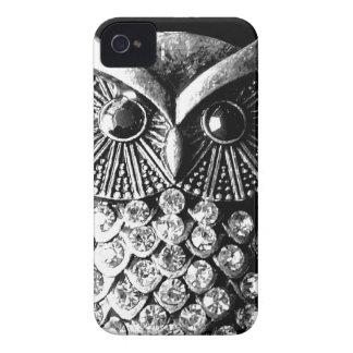 Búho Jewelled glamoroso del metal Case-Mate iPhone 4 Cobertura