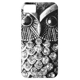 Búho Jewelled glamoroso del metal iPhone 5 Case-Mate Cobertura