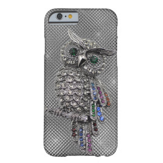 búho lindo bling funda de iPhone 6 barely there