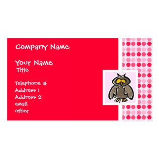 Búho lindo tarjeta de visita