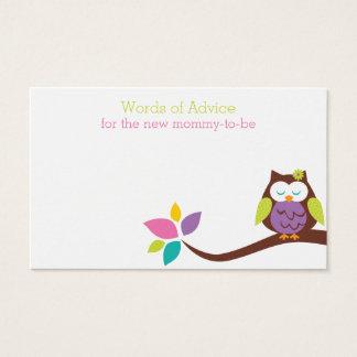 BÚHO lindo en una tarjeta de la fiesta de
