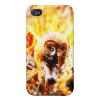 Búho Phoenix iPhone 4 Carcasas