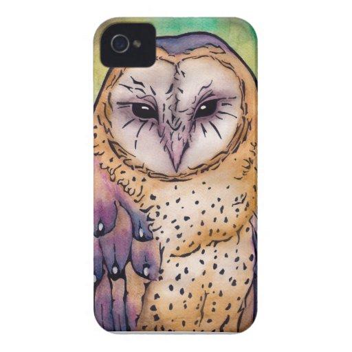 Búho púrpura iPhone 4 cárcasa