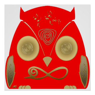 Buho Rojo Orus eXi Poster