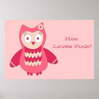 ¿Búho rosado… quién ama rosa? Poster