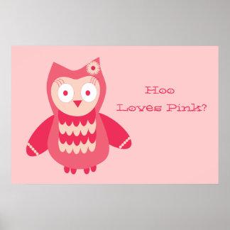 ¿Búho rosado… quién ama rosa Impresiones