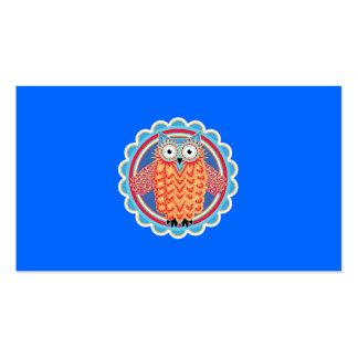 Búho tribal lindo tarjetas de visita
