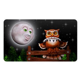 Búho y luna surrealistas Business_cards Tarjetas De Visita