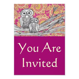 Búhos 36 invitaciones invitación 12,7 x 17,8 cm