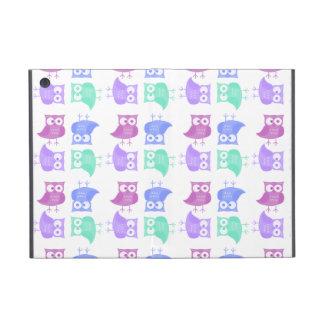 Búhos brillantes del fiesta iPad mini protectores