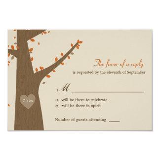 Búhos del amor que casan RSVP/la tarjeta de la Comunicados