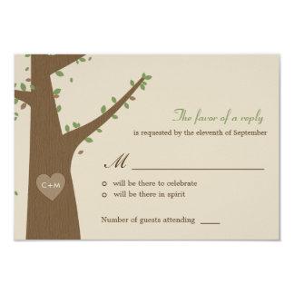 Búhos del amor que casan RSVP/la tarjeta de la Anuncios Personalizados