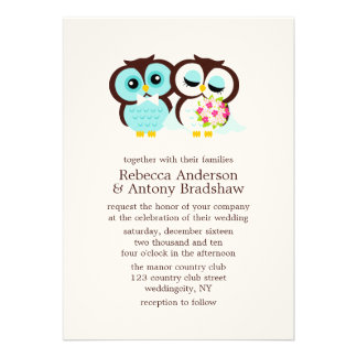 Búhos del boda