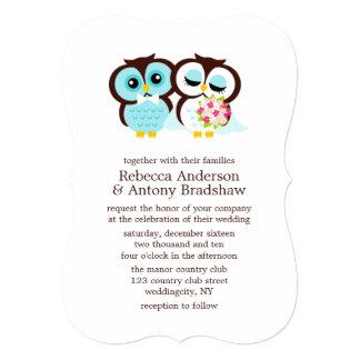 Búhos del boda invitación 12,7 x 17,8 cm
