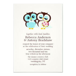 Búhos del boda invitación