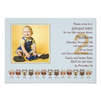 Búhos en una invitación de la fiesta de cumpleaños invitación 12,7 x 17,8 cm