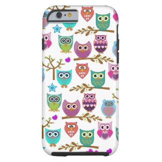 búhos felices funda para iPhone 6 tough