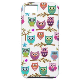 búhos felices iPhone 5 Case-Mate carcasa